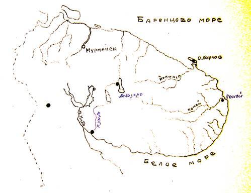 Схема Кольского полуострова